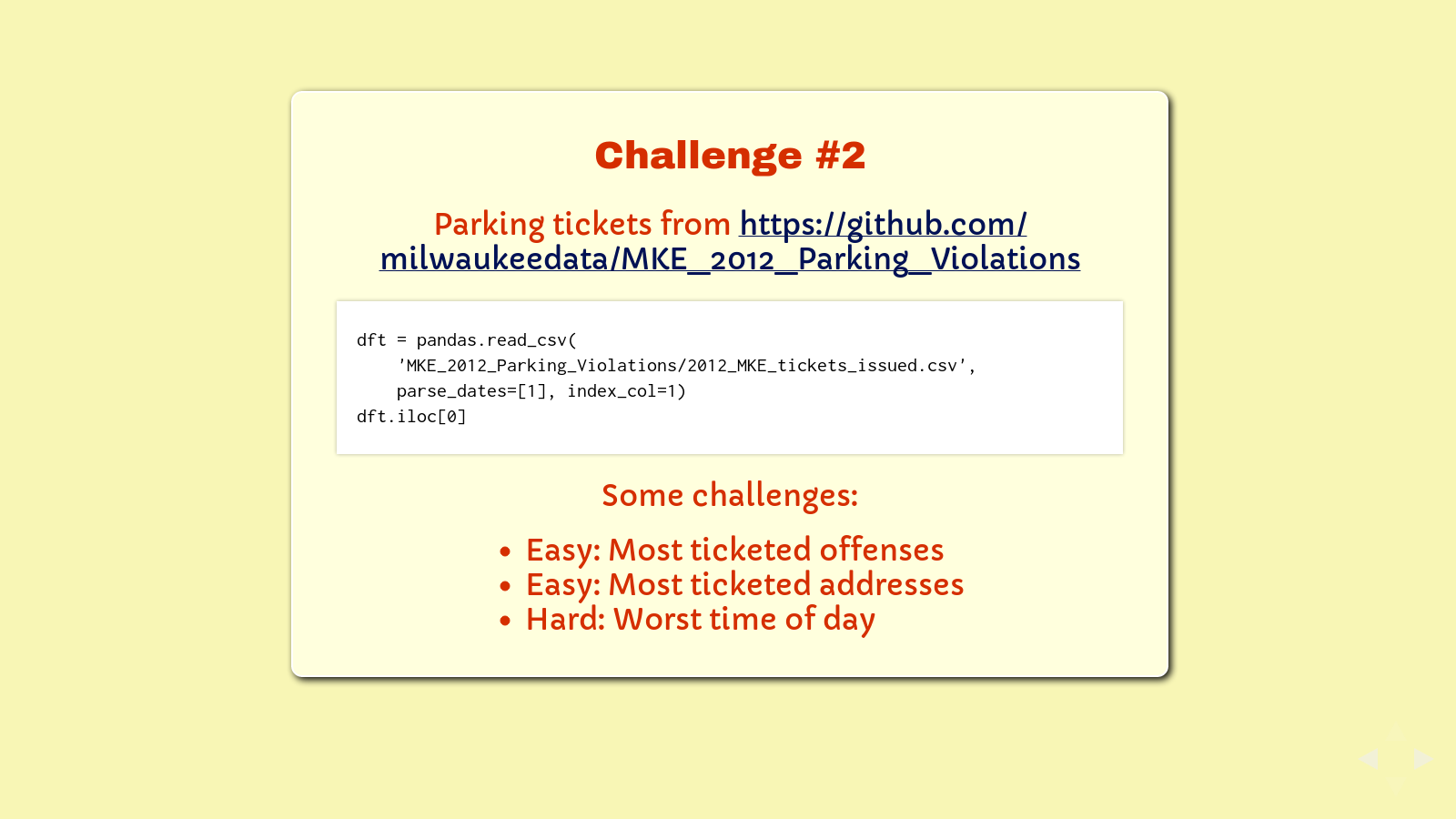 Slide: Challenge 2 Milwaukee Parking Tickets