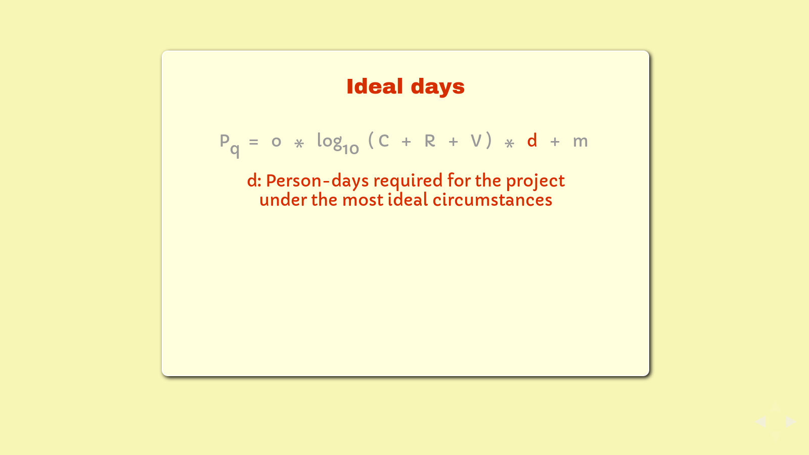 Slide: Time commitment, 'd'