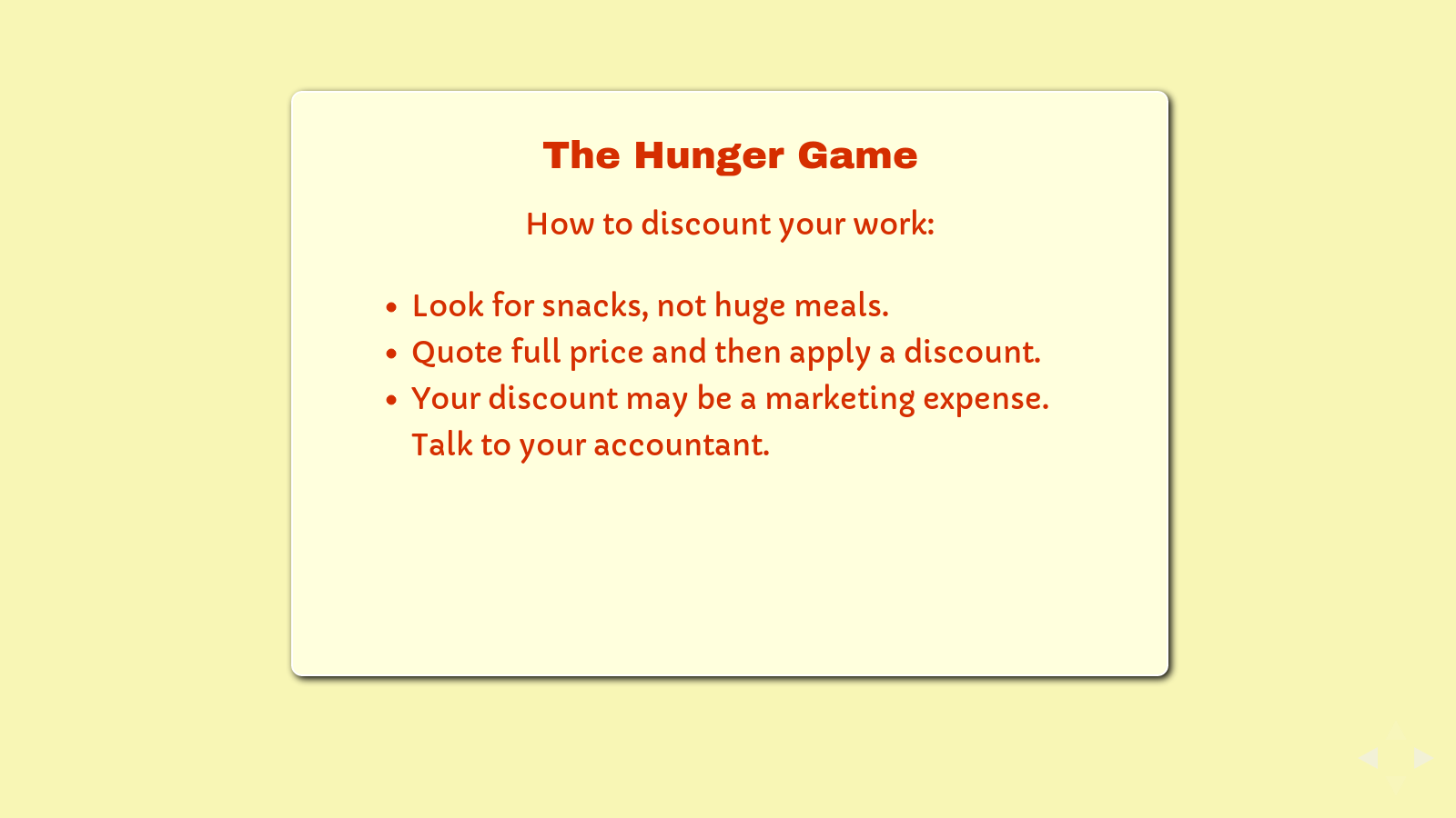 Slide: The Hunger Game.