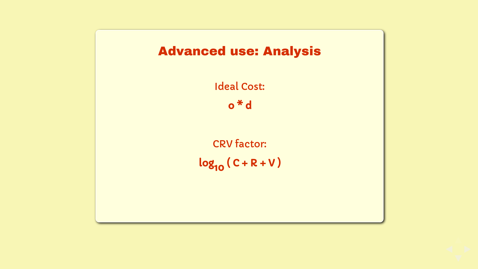 Slide: Ideal Cost and The CRV Factor