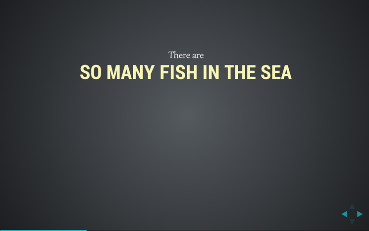 Slide: So many fish in the sea