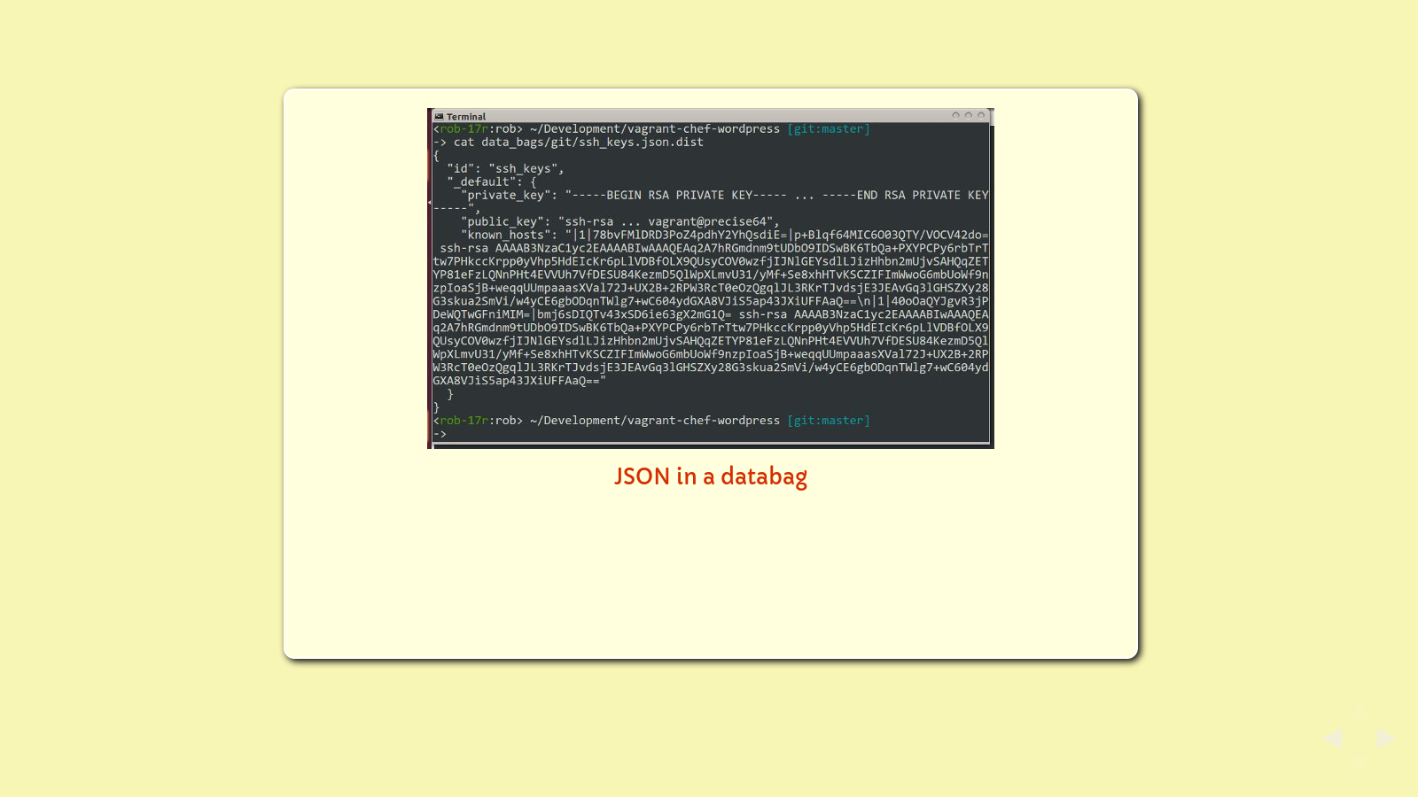 Slide: databag json