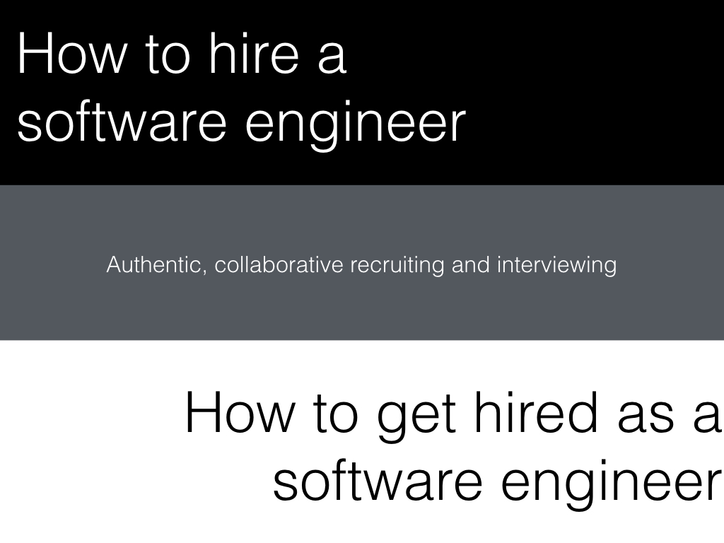 Slide: How to hire a software engineer