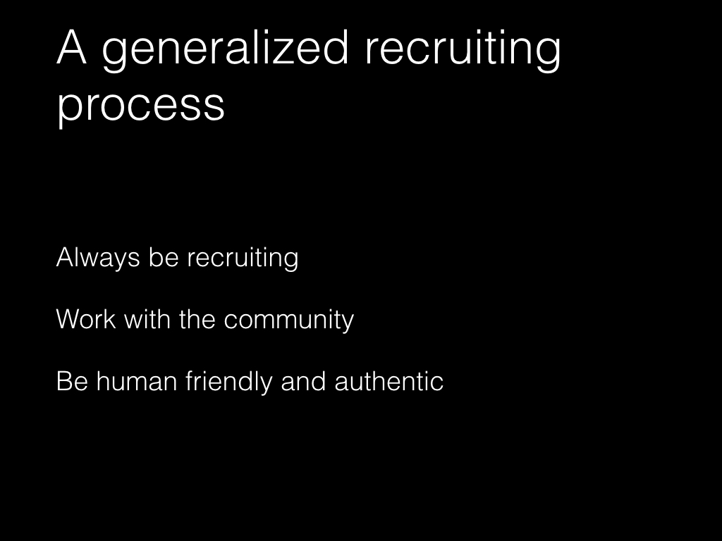 Slide: A generalized recruiting process