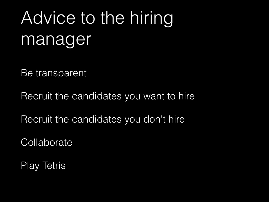 Slide: Manager - be transparent