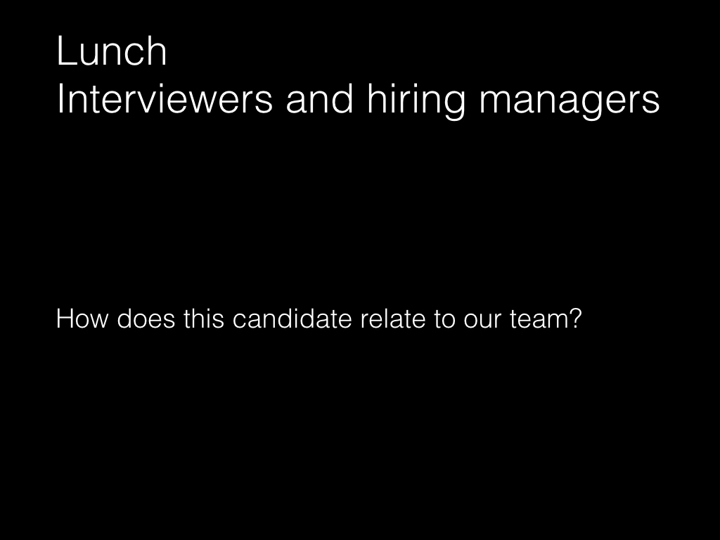 Slide: Managers - lunch