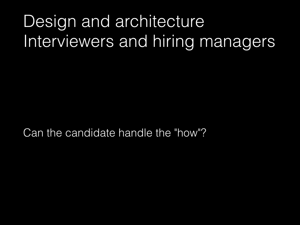 Slide: Managers - the design and architecture interview