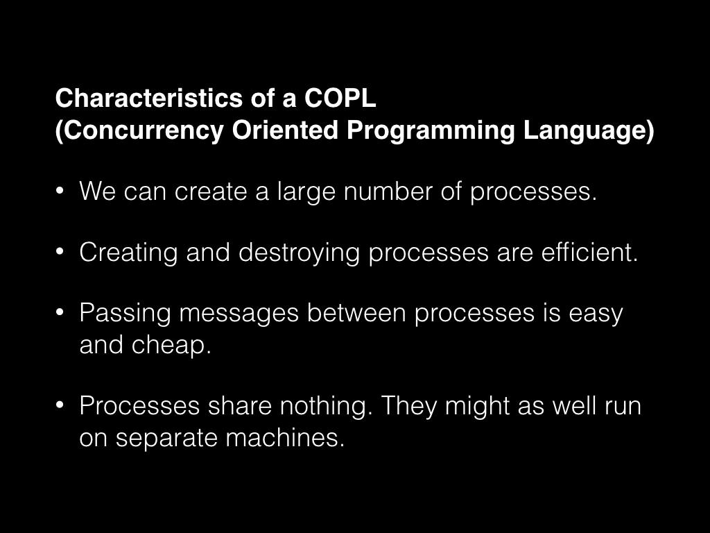 Slide: Concurrency-oriented programming languages
