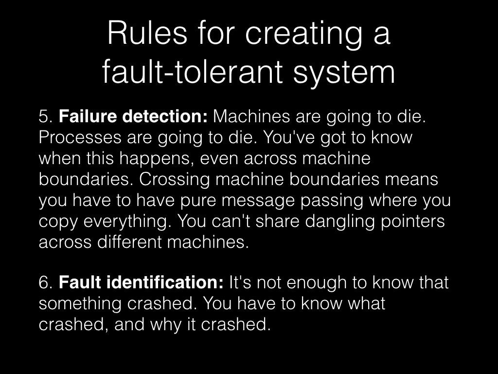 Slide: Failure detection and fault identification.